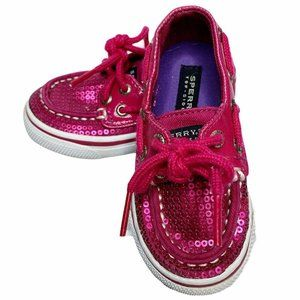 Sperry | Bahama Hot Pink Sequined Boat Shoes